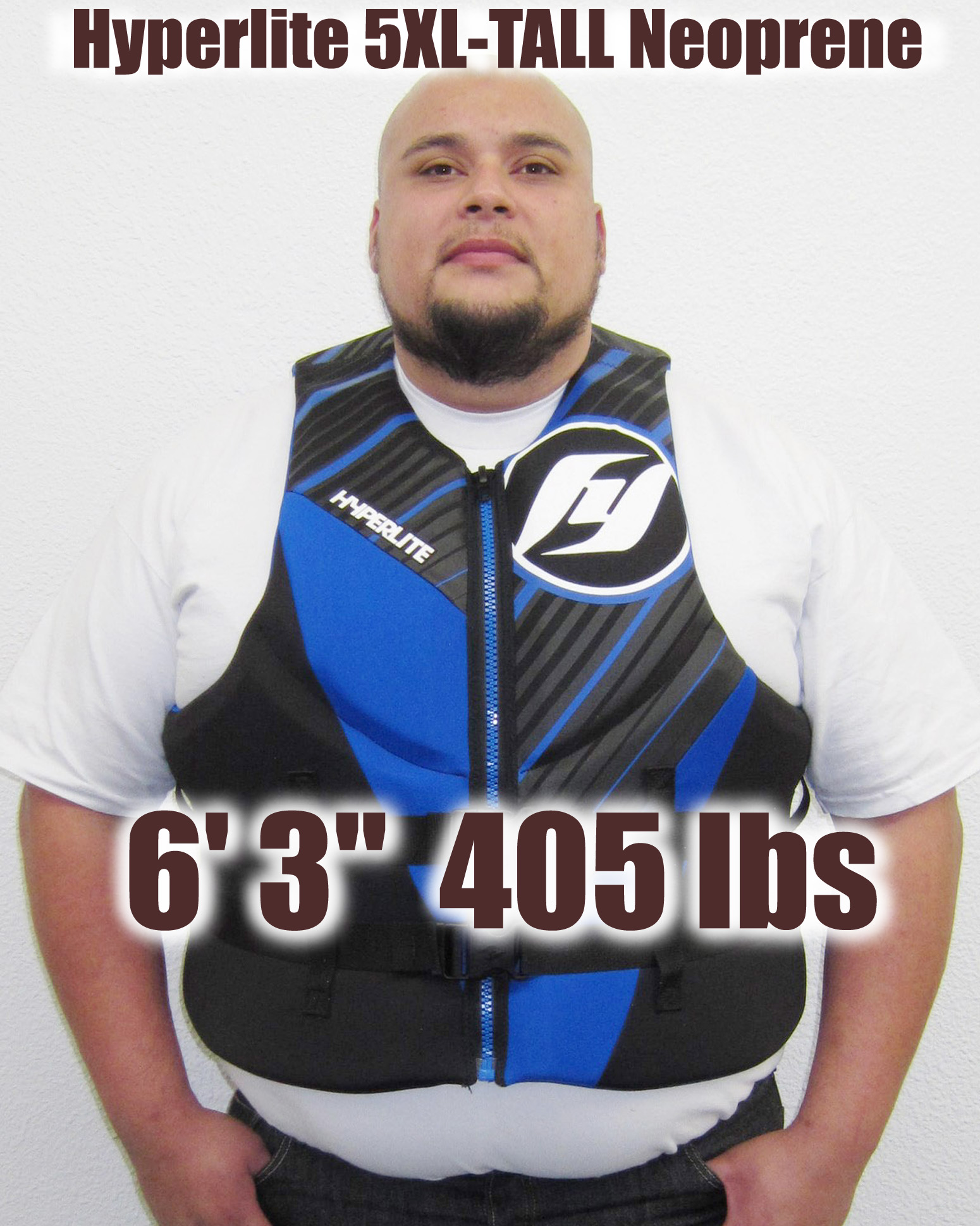 Hyperlite Indy TALL Neoprene Life Vest up to size 5XL TALL