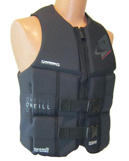 oneill assault black life vest 2018