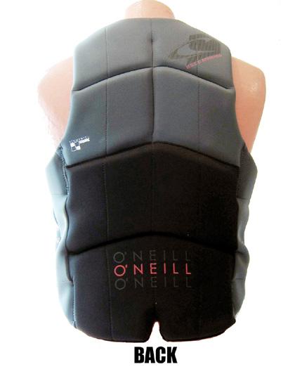 oneill mens assault ls neoprene life vest gray 4498 B82