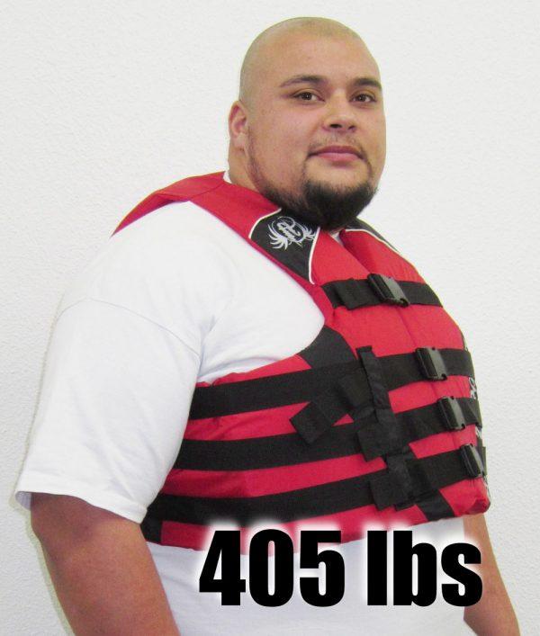 full throttle nylon life jacket men over 400 lbs RED