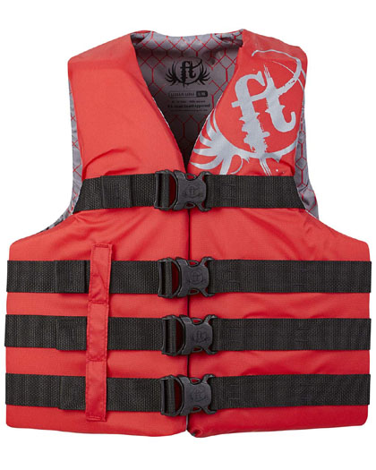 Full Throttle Life Jacket Red 7XL