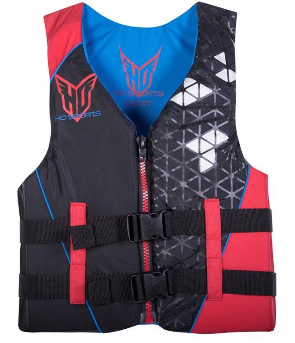 ho infinite mens nylon life vest red black