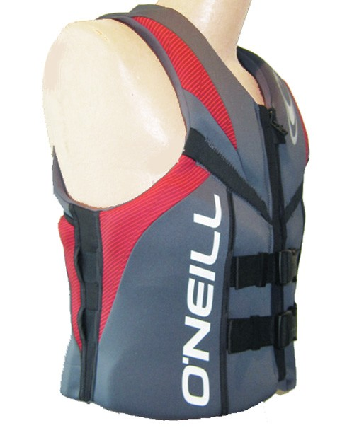 ONeill Reactor Mens Neoprene Life Vest Gray/Red 2019