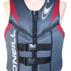 ONeill Reactor Mens Neoprene Life Vest Gray/Red 2019