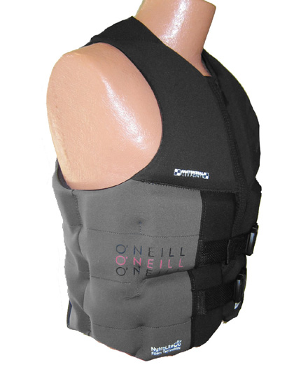 oneill mens assault ls neoprene life vest gray 4498 B82