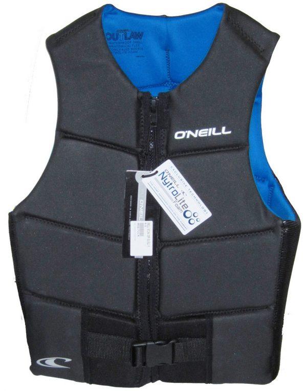 oneill oputlaw mens comp vest black blue