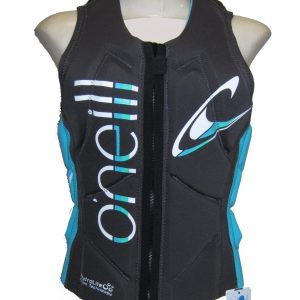 ONeill Slasher Womens Comp Vest Black/Aqua 2019