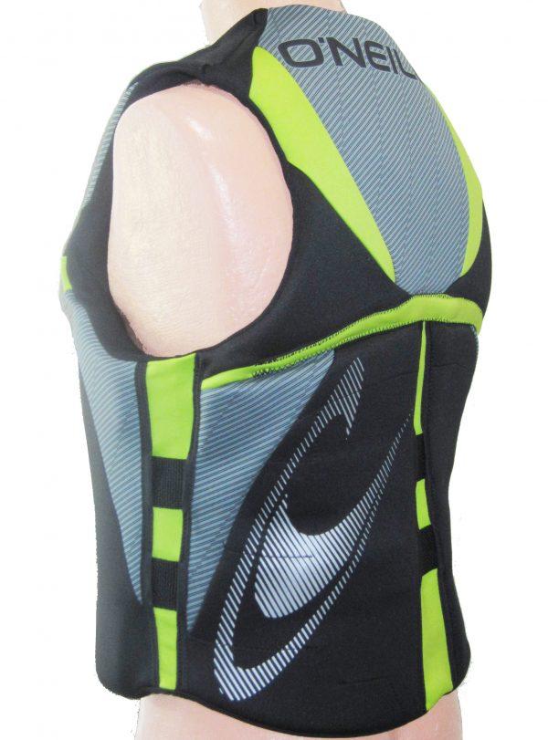 oneill reactor mens neoprene life vest lunar flex sides