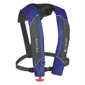 Onyx A/M-24 Automatic / Manual Inflatable Life Jacket Blue