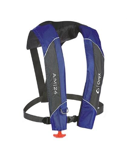 Onyx A/M-24 Automatic / Manual Inflatable Life Jacket Blue