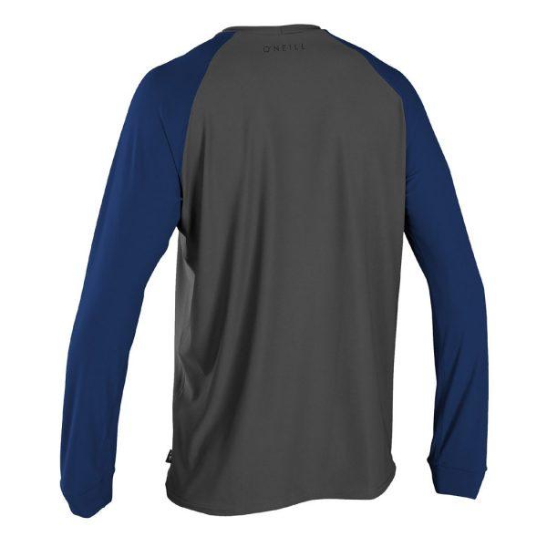 ONeill 24-7 Traveler Sun Shirt L/S Graphite/Navy Rashguard 2019