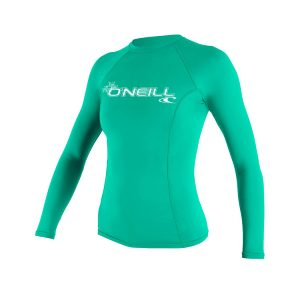 ONeill BASIC 50+ Long Sleeve Womens Green Rashguard 2019