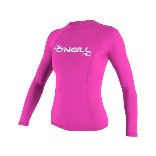 ONeill BASIC 50+ Long Sleeve Womens Pink Rashguard 2019