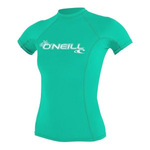 ONeill BASIC 50+ Short Sleeve Womens Green Rashguard 2019