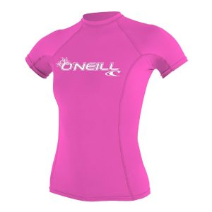 ONeill BASIC 50+ Short Sleeve Womens Pink Rashguard 2019